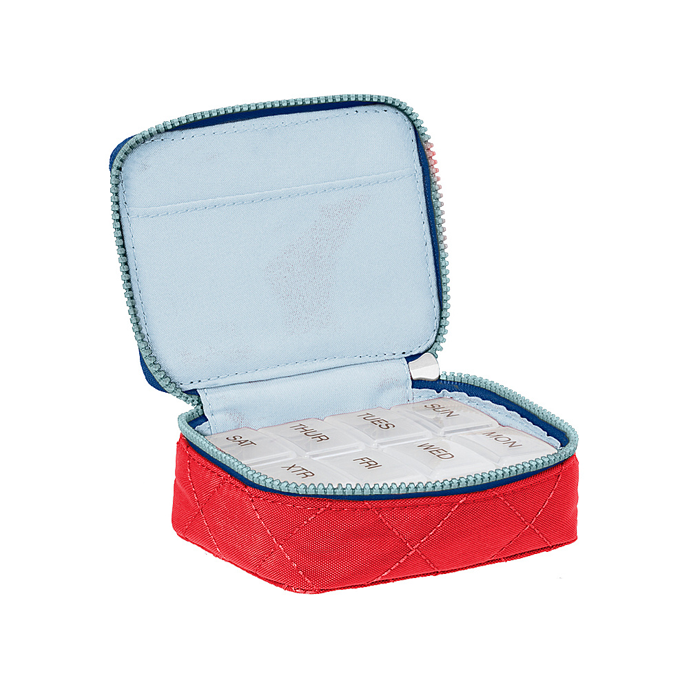 baggallini Travel Pill Case Red/Navy - baggallini Travel Comfort and Health - Travel Accessories, Travel Comfort and Health