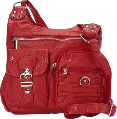 Ampere Creations Ampere Creations The Aria Crossbody Red - Ampere Creations Manmade Handbags