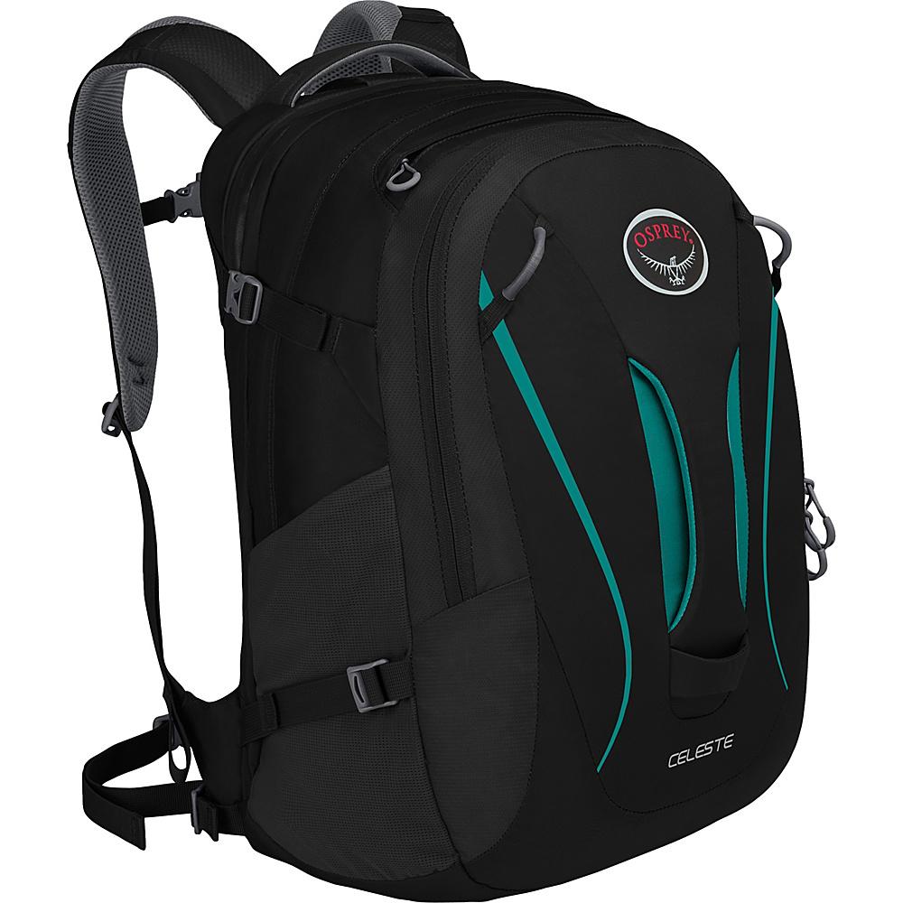 Osprey Celeste Laptop Backpack- Discontinued Colors Black - Osprey Travel Backpacks - Backpacks, Travel Backpacks