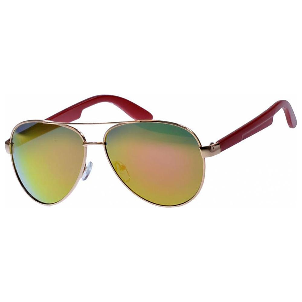 SW Global Classic Dual Tone Aviator UV400 Sunglasses Red - SW Global Eyewear - Fashion Accessories, Eyewear