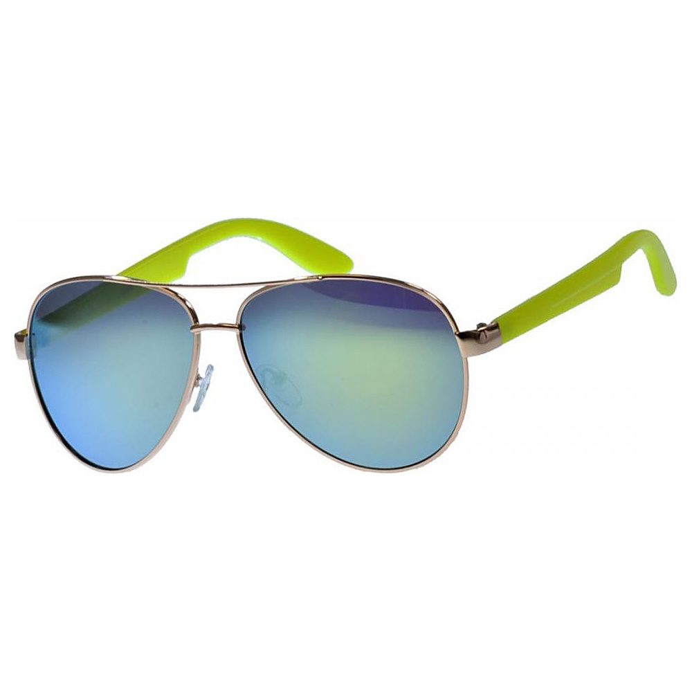 SW Global Classic Dual Tone Aviator UV400 Sunglasses Yellow - SW Global Eyewear - Fashion Accessories, Eyewear