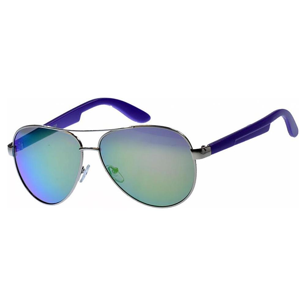 SW Global Classic Dual Tone Aviator UV400 Sunglasses Blue - SW Global Eyewear - Fashion Accessories, Eyewear