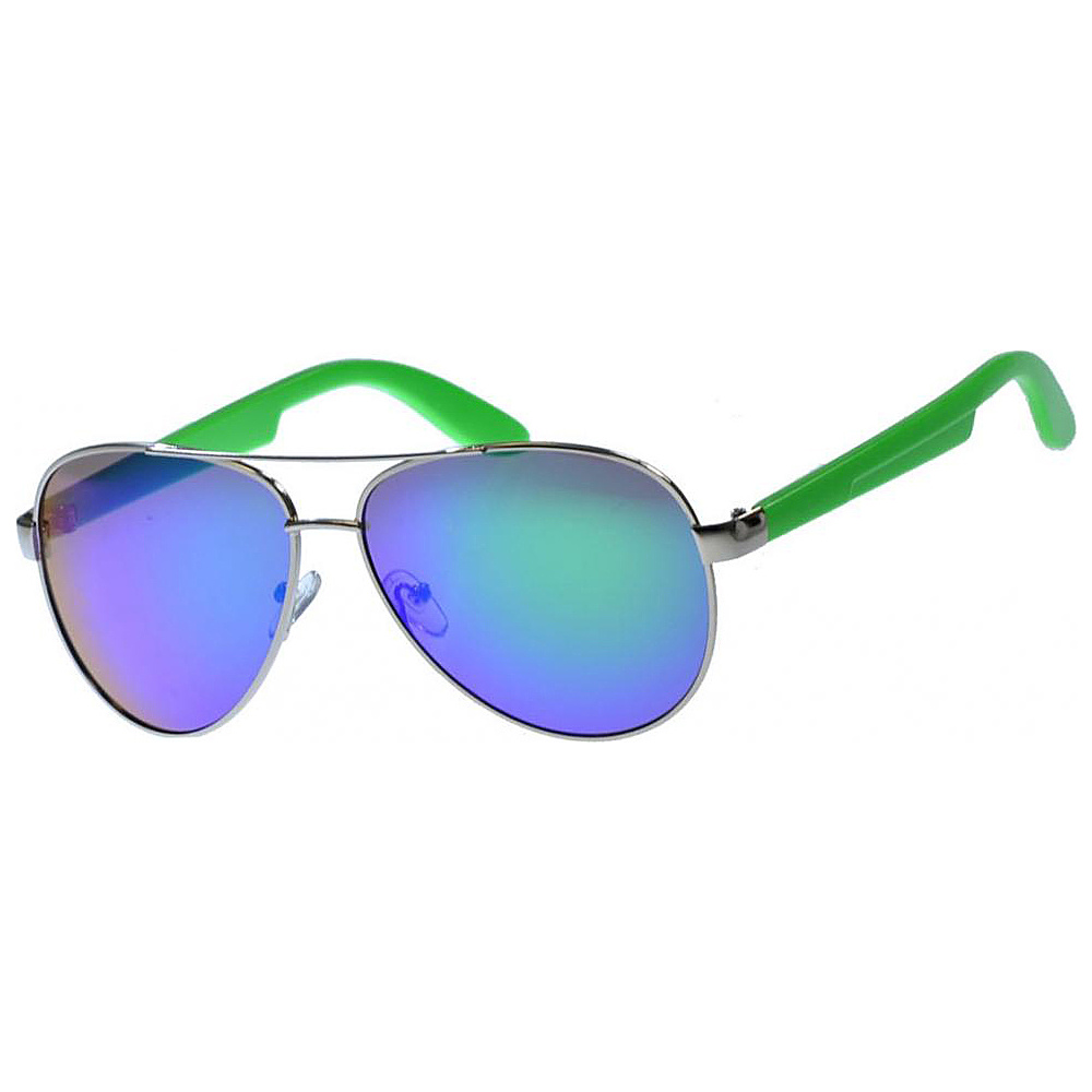 SW Global Classic Dual Tone Aviator UV400 Sunglasses Green - SW Global Eyewear - Fashion Accessories, Eyewear