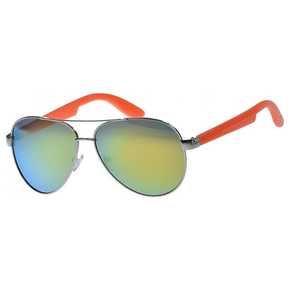 SW Global Classic Dual Tone Aviator UV400 Sunglasses Orange - SW Global Eyewear - Fashion Accessories, Eyewear