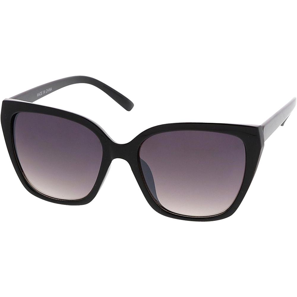 SW Global Womens Simple Fashion Geometric Frame Cat Eye Sunglasses Black - SW Global Eyewear - Fashion Accessories, Eyewear