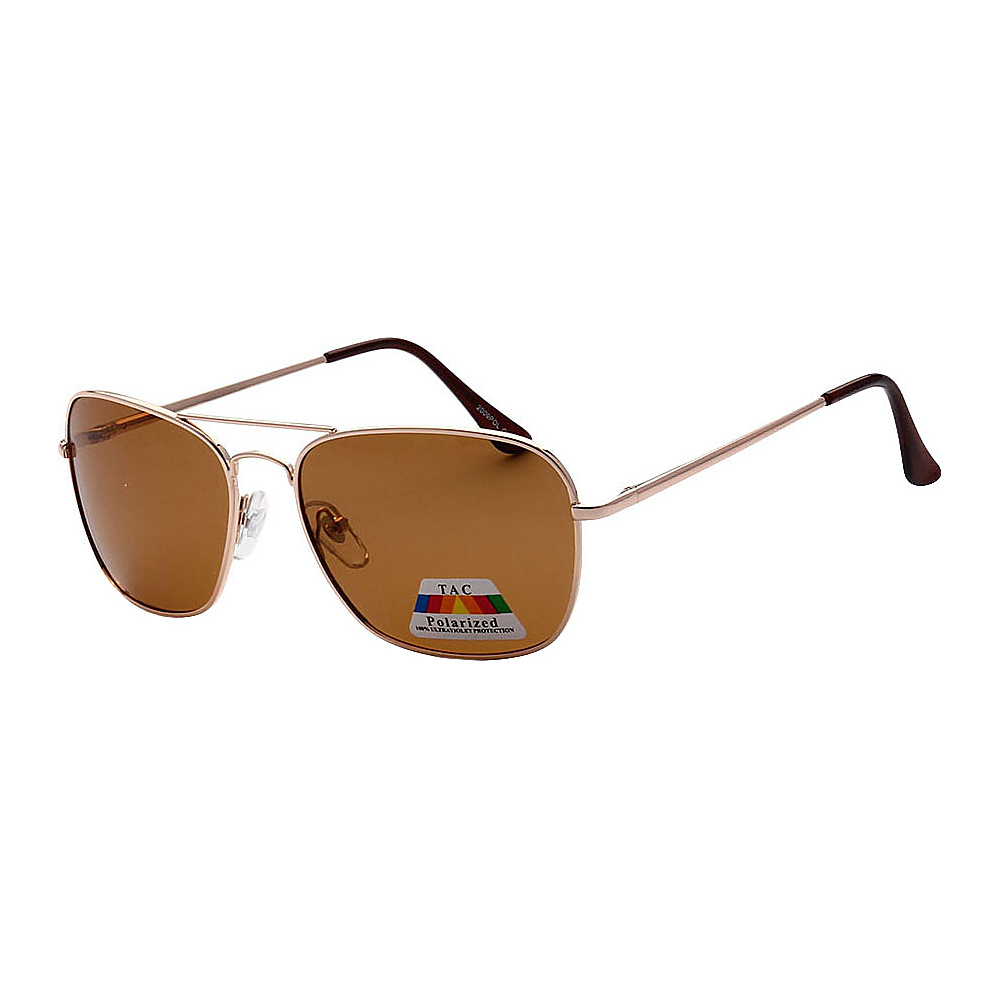 SW Global Polarized Ultra Light Weight Sport Aviator UV400 Sunglasses Gold Brown - SW Global Eyewear - Fashion Accessories, Eyewear