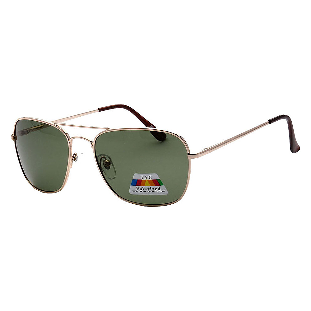 SW Global Polarized Ultra Light Weight Sport Aviator UV400 Sunglasses Gold Green - SW Global Eyewear - Fashion Accessories, Eyewear