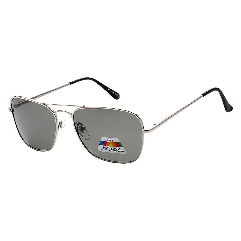 SW Global Polarized Ultra Light Weight Sport Aviator UV400 Sunglasses Silver Black - SW Global Eyewear - Fashion Accessories, Eyewear