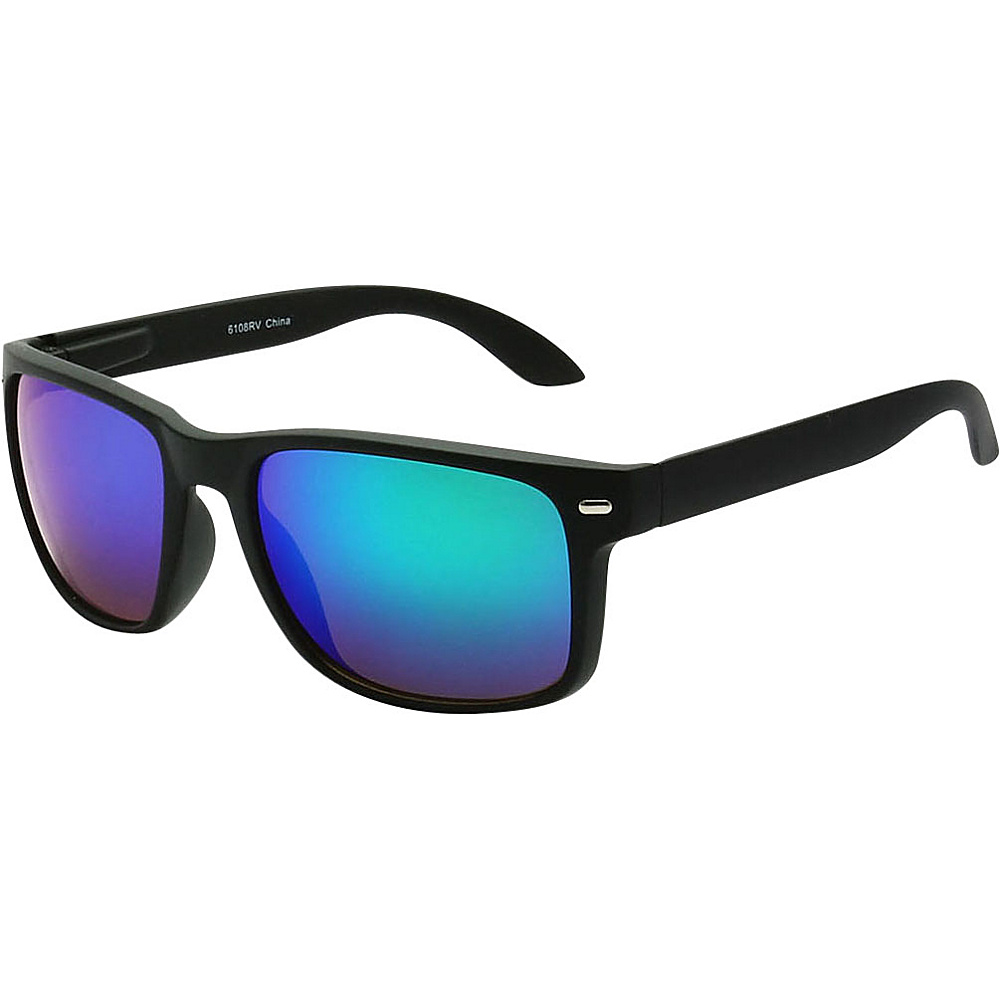 SW Global Sporty Rectangular Frame Sunglasses Blue - SW Global Eyewear - Fashion Accessories, Eyewear