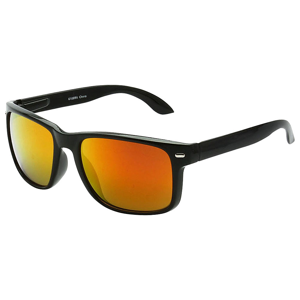 SW Global Sporty Rectangular Frame Sunglasses Orange - SW Global Eyewear - Fashion Accessories, Eyewear