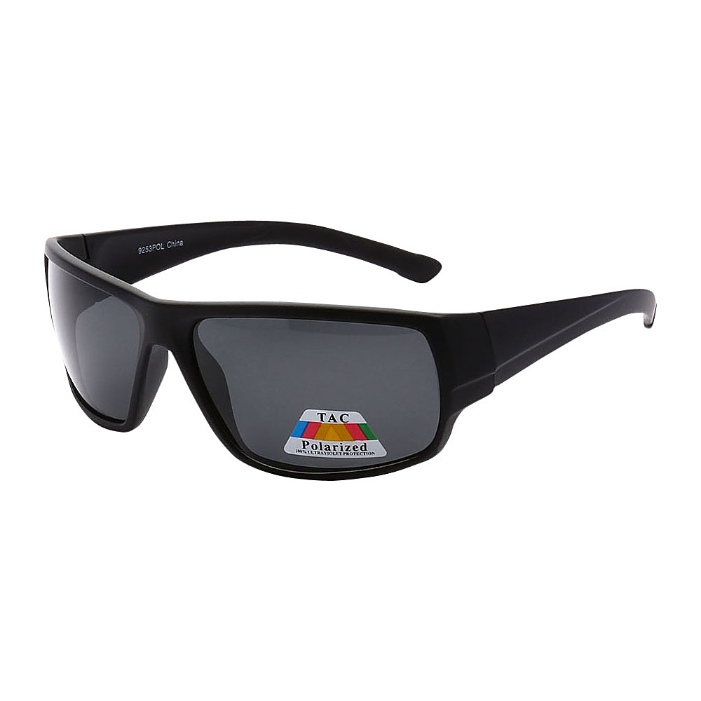 SW Global Polarized Outdoors Sports Full Square Framed UV400 Sunglasses Black Black - SW Global Eyewear - Fashion Accessories, Eyewear