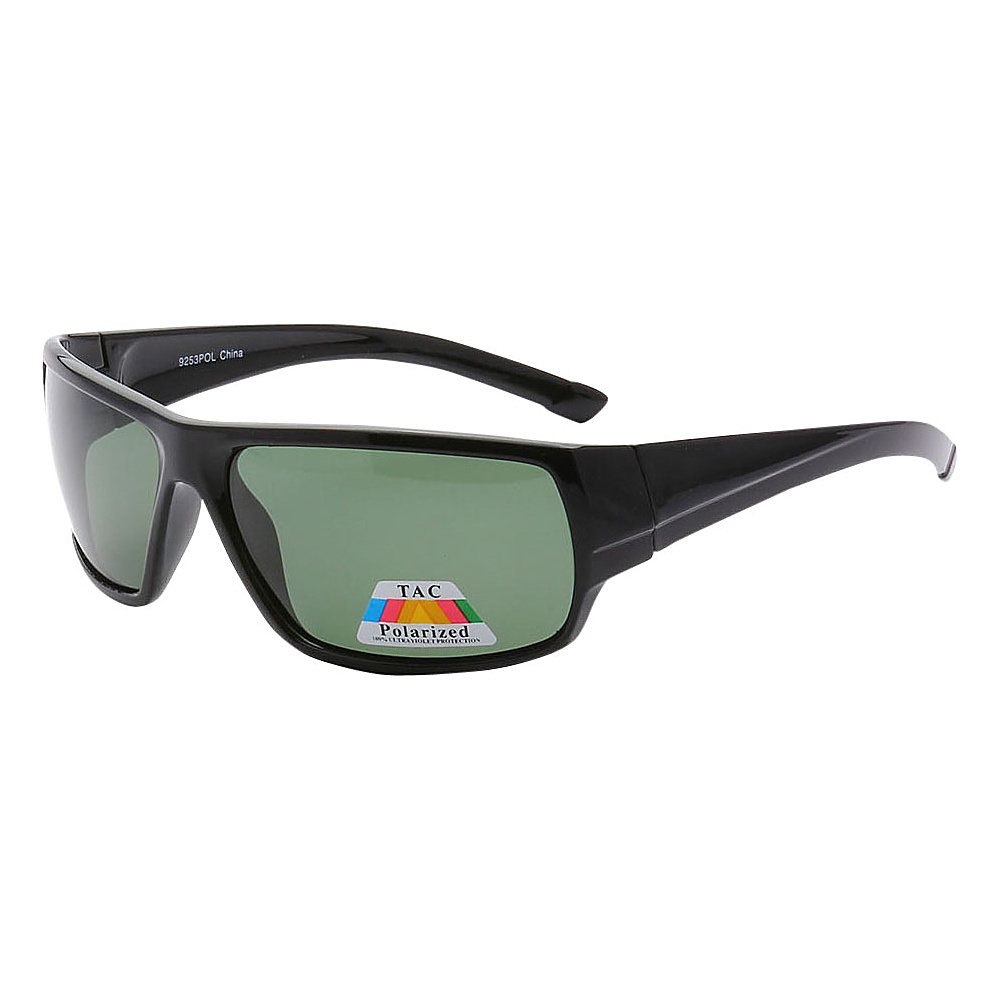 SW Global Polarized Outdoors Sports Full Square Framed UV400 Sunglasses Black Green - SW Global Eyewear - Fashion Accessories, Eyewear