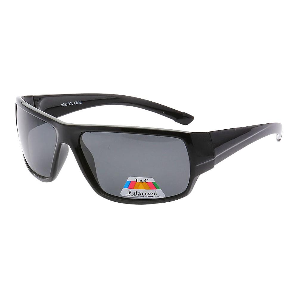 SW Global Polarized Outdoors Sports Full Square Framed UV400 Sunglasses Black Silver - SW Global Eyewear - Fashion Accessories, Eyewear