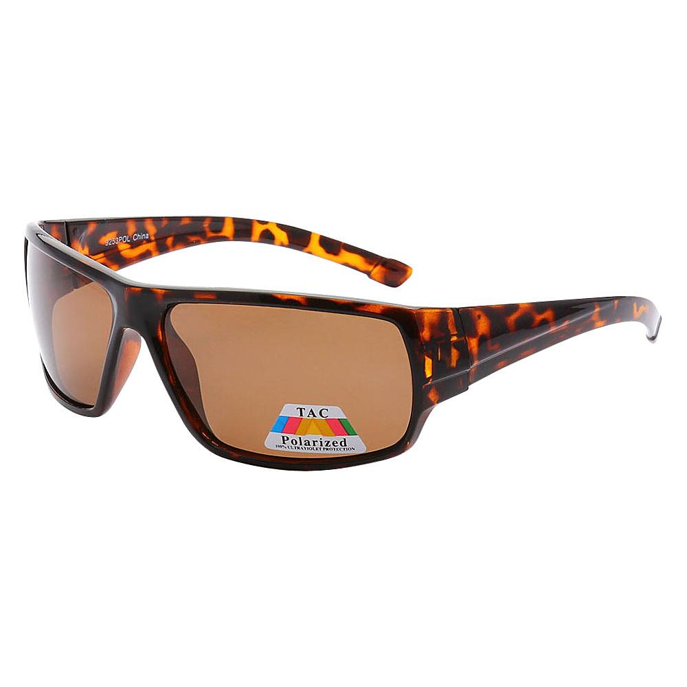 SW Global Polarized Outdoors Sports Full Square Framed UV400 Sunglasses Leopard Brown - SW Global Eyewear - Fashion Accessories, Eyewear