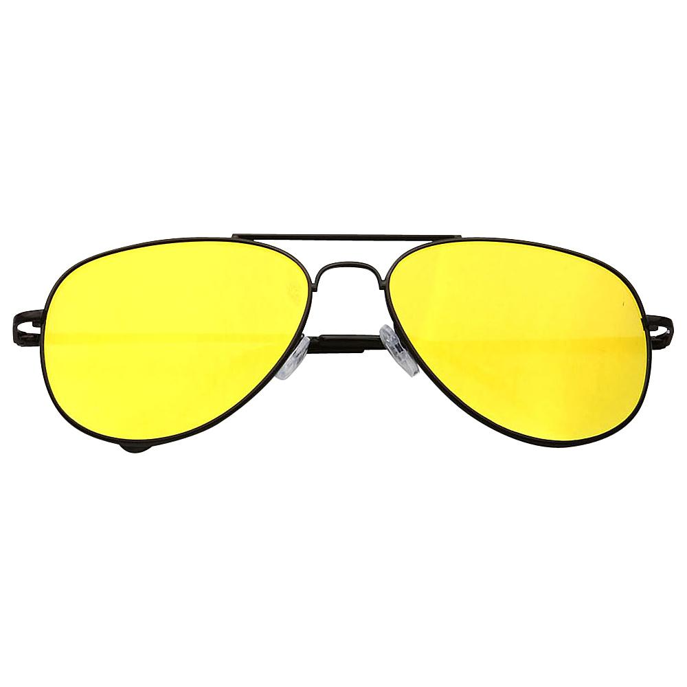 SW Global Ultra Light Weight Sport Aviator UV400 Sunglasses Black Yellow - SW Global Eyewear - Fashion Accessories, Eyewear