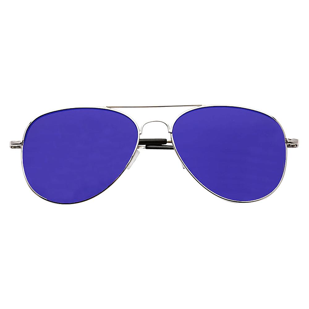 SW Global Ultra Light Weight Sport Aviator UV400 Sunglasses Silver Blue - SW Global Eyewear - Fashion Accessories, Eyewear