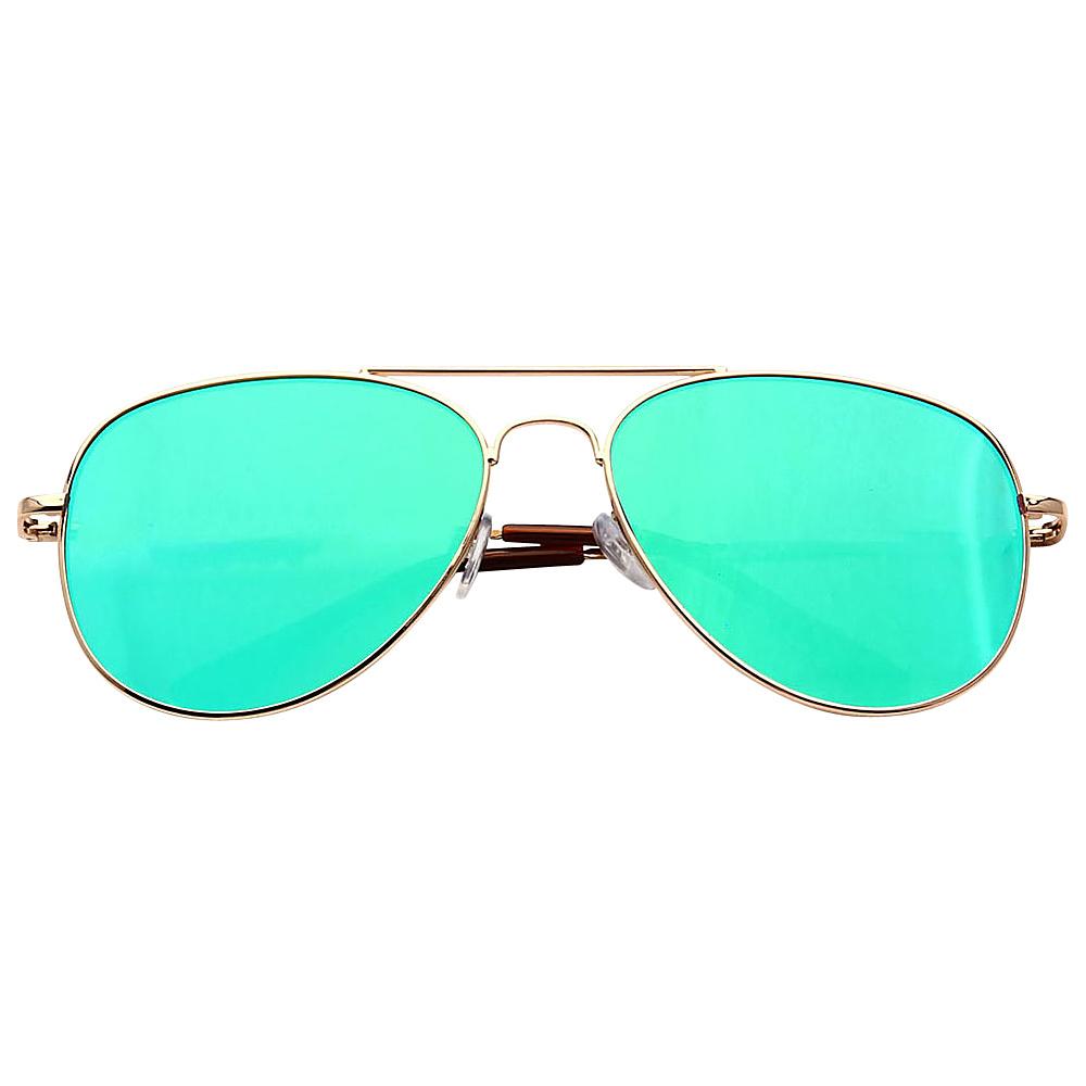SW Global Ultra Light Weight Sport Aviator UV400 Sunglasses Silver Green - SW Global Eyewear - Fashion Accessories, Eyewear