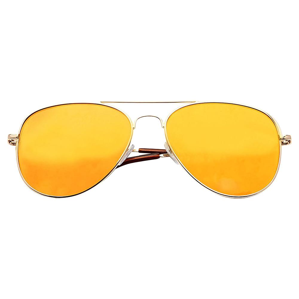 SW Global Ultra Light Weight Sport Aviator UV400 Sunglasses Silver Orange - SW Global Eyewear - Fashion Accessories, Eyewear