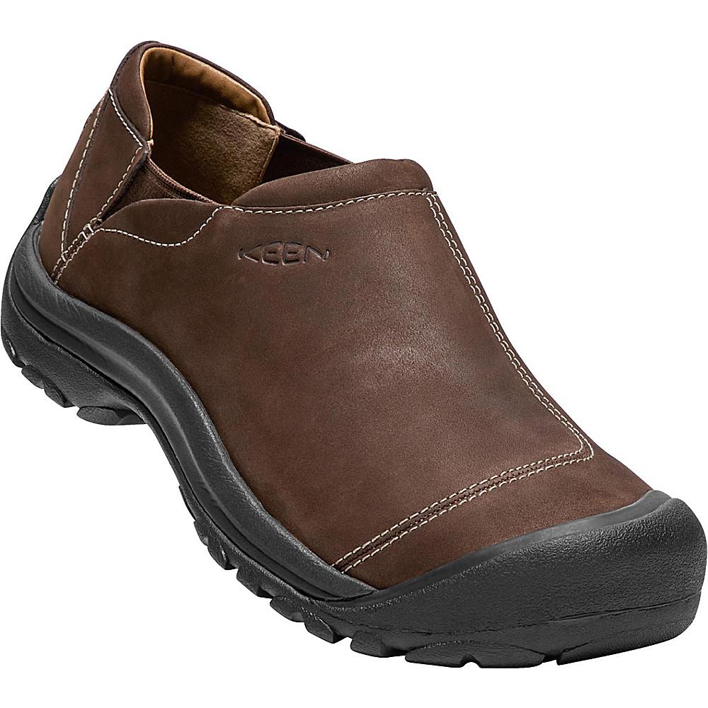 KEEN Mens Ashland Leather Slip-On 7 - Chocolate Brown - KEEN Mens Footwear - Apparel & Footwear, Men's Footwear