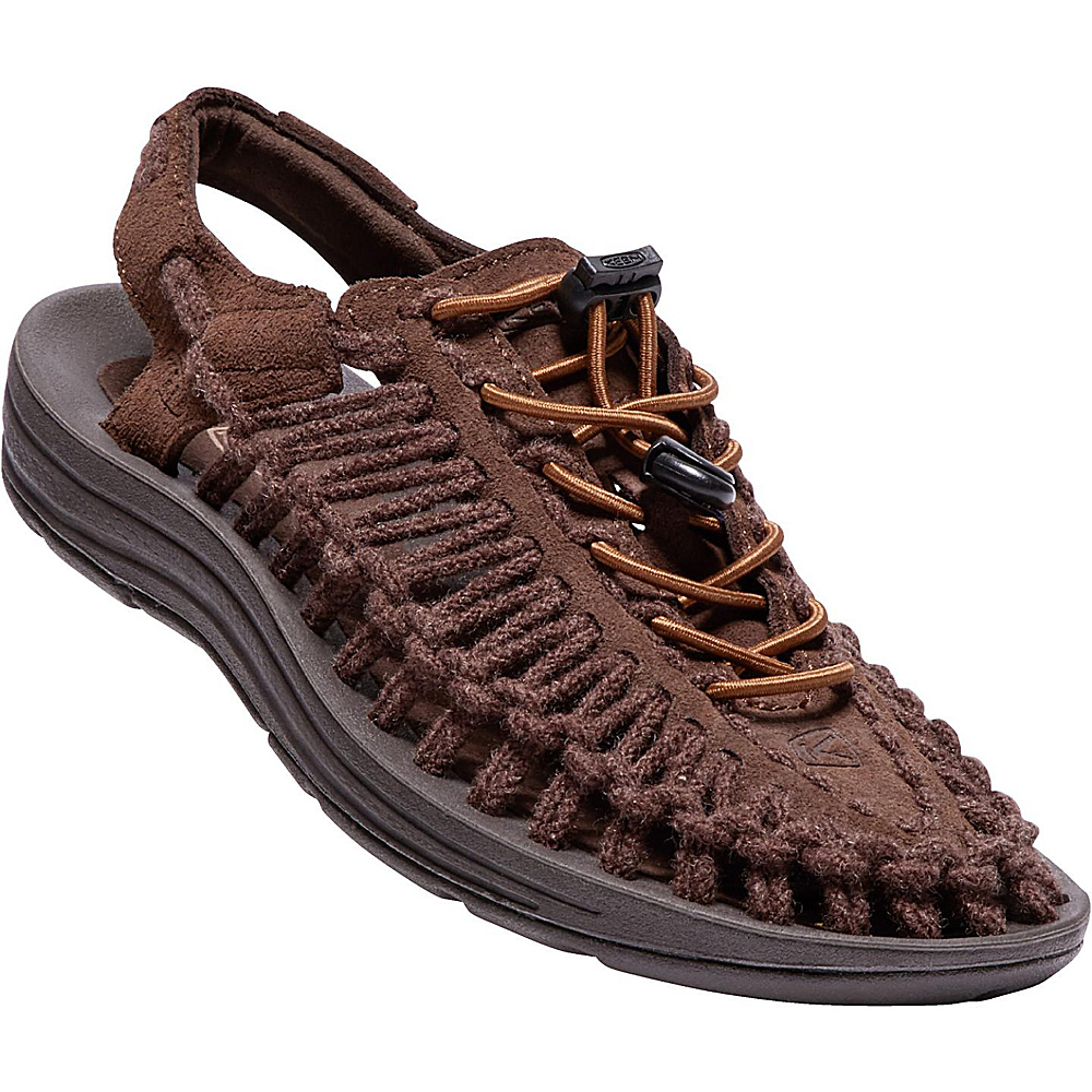 KEEN Womens Uneek Leather Sandal 6.5 - French Roast/Tandori Spice Sc - KEEN Womens Footwear - Apparel & Footwear, Women's Footwear