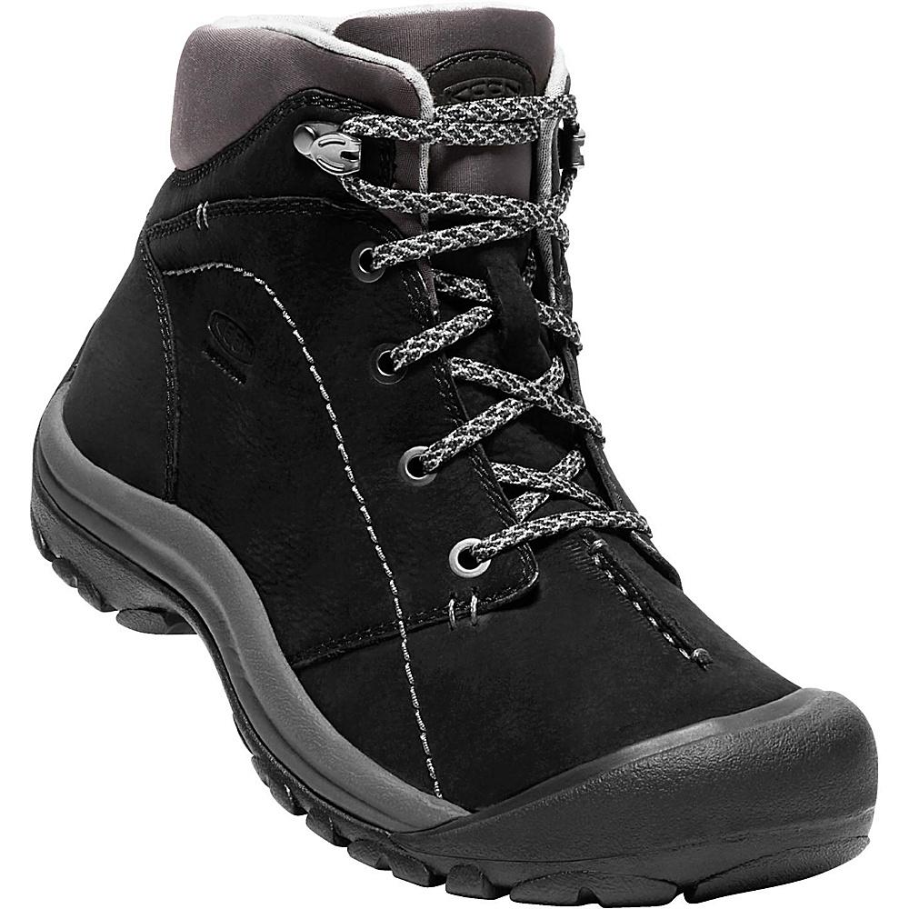 KEEN Womens Kaci Winter Mid Waterproof Boot 6 - Black/Magnet - KEEN Womens Footwear - Apparel & Footwear, Women's Footwear