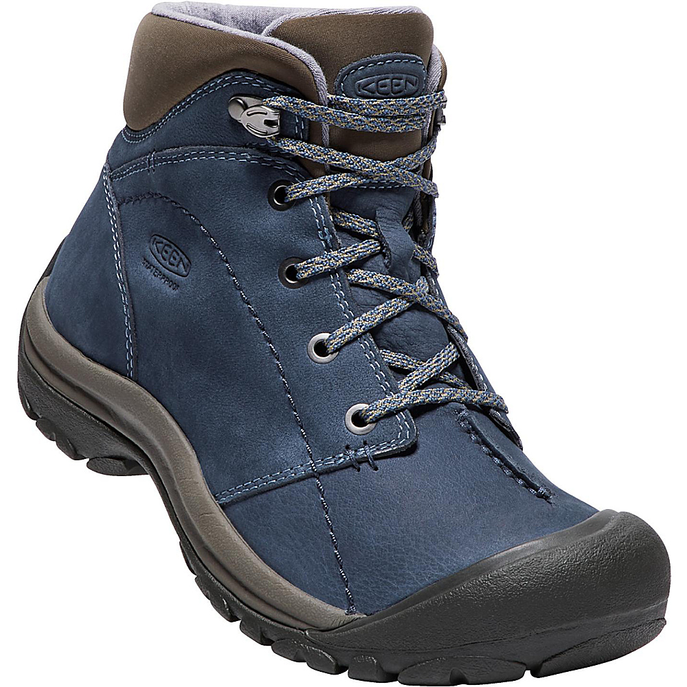KEEN Womens Kaci Winter Mid Waterproof Boot 11 - Dress Blues/Bungee Cord - KEEN Womens Footwear - Apparel & Footwear, Women's Footwear