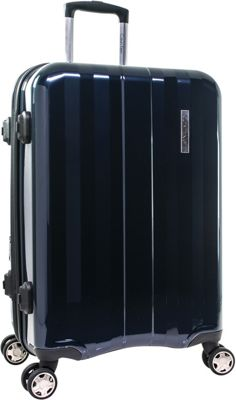 Calvin Klein Luggage Calvin Klein Luggage Excalibur 24 inch Expandable Checked Hardside Spinner Luggage Navy - Calvin Klein Luggage Hardside Checked