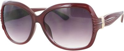 Kay Unger Oversized Sunglasses Milky Red/Gradient Brown Lens - Kay Unger Eyewear