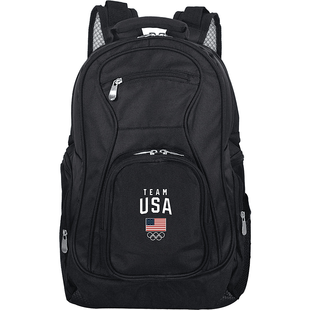 MOJO Denco Team USA Olympics 19 Laptop Backpack Black - MOJO Denco Laptop Backpacks - Backpacks, Laptop Backpacks