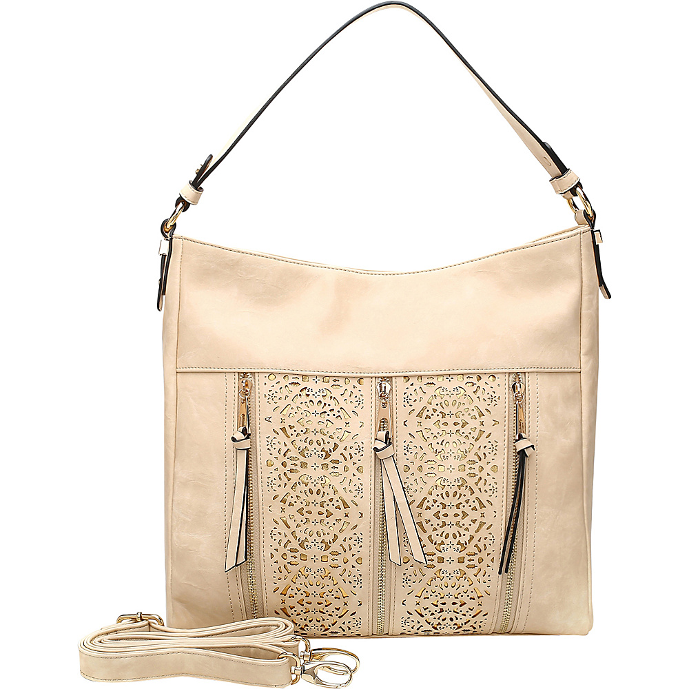 MKF Collection by Mia K. Farrow Adalaya Hobo Beige - MKF Collection by Mia K. Farrow Manmade Handbags - Handbags, Manmade Handbags