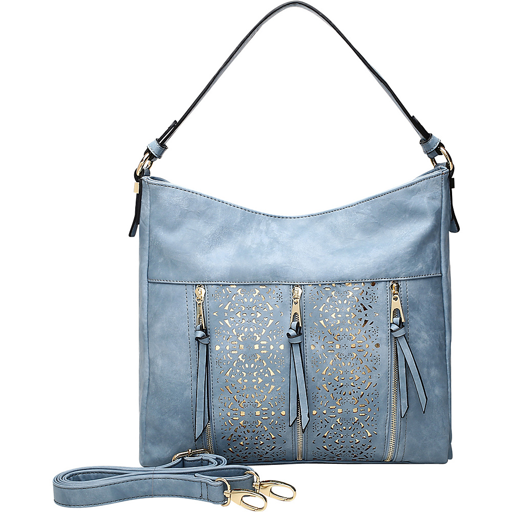 MKF Collection by Mia K. Farrow Adalaya Hobo Blue - MKF Collection by Mia K. Farrow Manmade Handbags - Handbags, Manmade Handbags