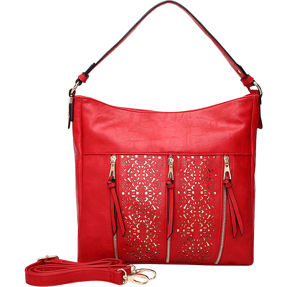 MKF Collection by Mia K. Farrow Adalaya Hobo Red - MKF Collection by Mia K. Farrow Manmade Handbags - Handbags, Manmade Handbags