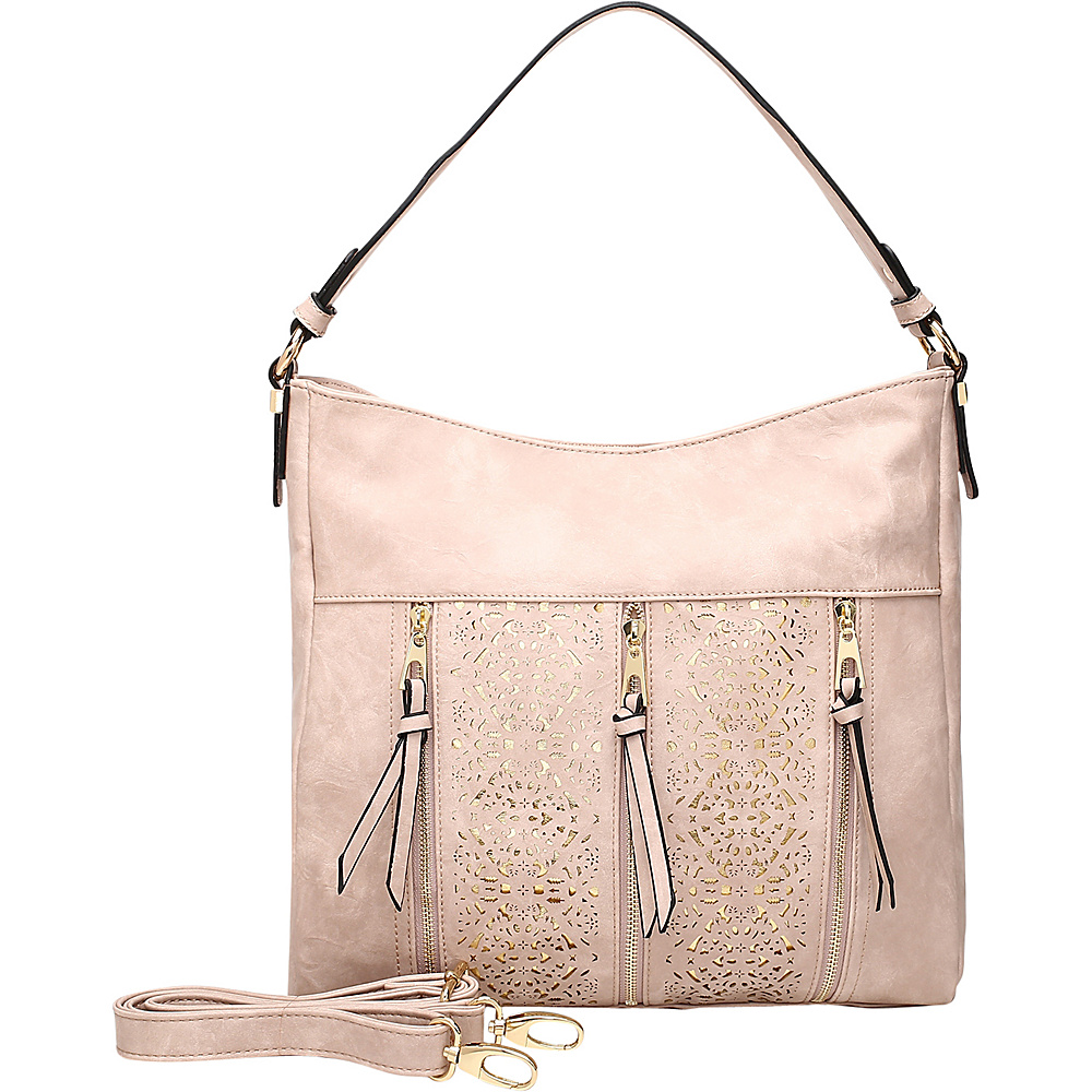 MKF Collection by Mia K. Farrow Adalaya Hobo Pink - MKF Collection by Mia K. Farrow Manmade Handbags - Handbags, Manmade Handbags