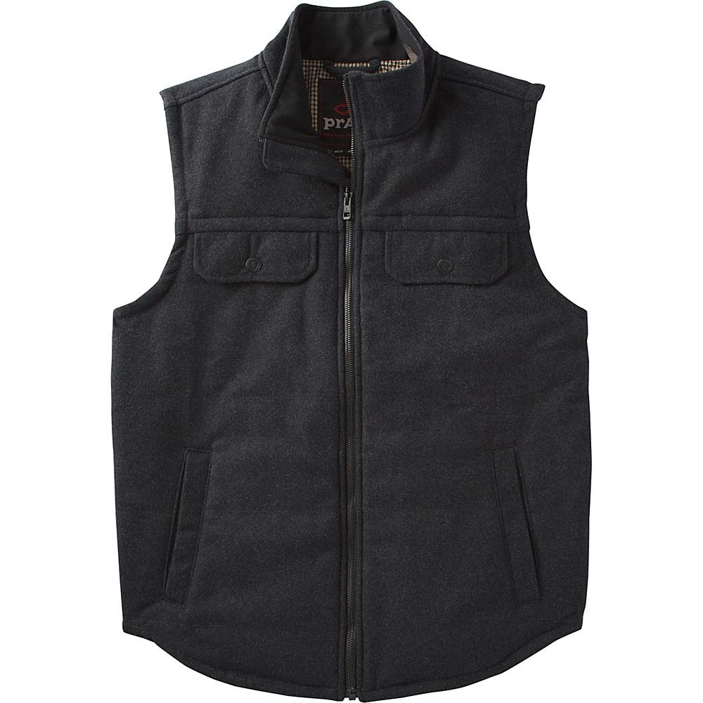 PrAna Colewood Wool Vest M - Black Heather - PrAna Mens Apparel - Apparel & Footwear, Men's Apparel
