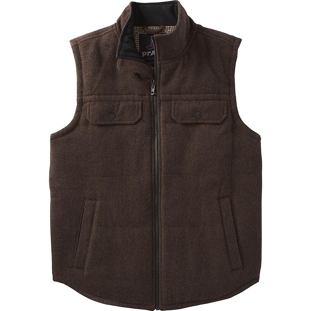 PrAna Colewood Wool Vest M - Coffee Bean Heather - PrAna Mens Apparel - Apparel & Footwear, Men's Apparel
