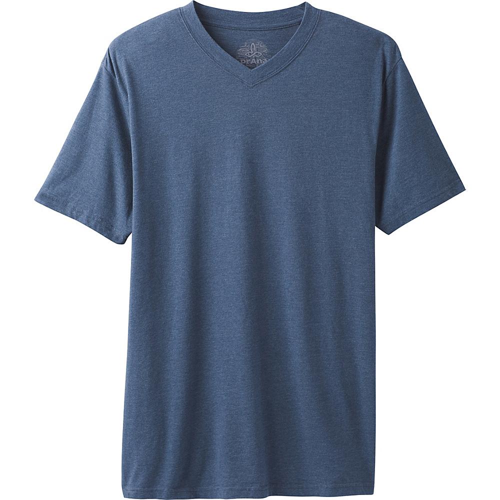 PrAna PrAna V-Neck T-Shirt S - Denim Heather - PrAna Mens Apparel - Apparel & Footwear, Men's Apparel