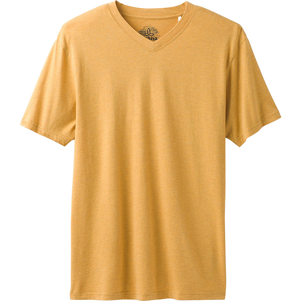 PrAna PrAna V-Neck T-Shirt S - Marigold Heather - PrAna Mens Apparel - Apparel & Footwear, Men's Apparel