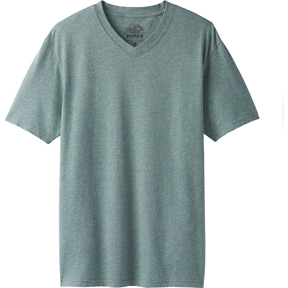 PrAna PrAna V-Neck T-Shirt S - Starling Green Heather - PrAna Mens Apparel - Apparel & Footwear, Men's Apparel