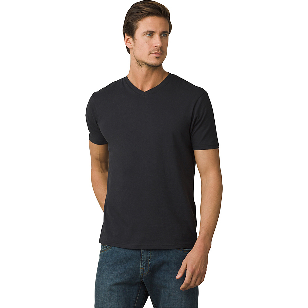PrAna PrAna V-Neck T-Shirt L - Black - PrAna Mens Apparel - Apparel & Footwear, Men's Apparel