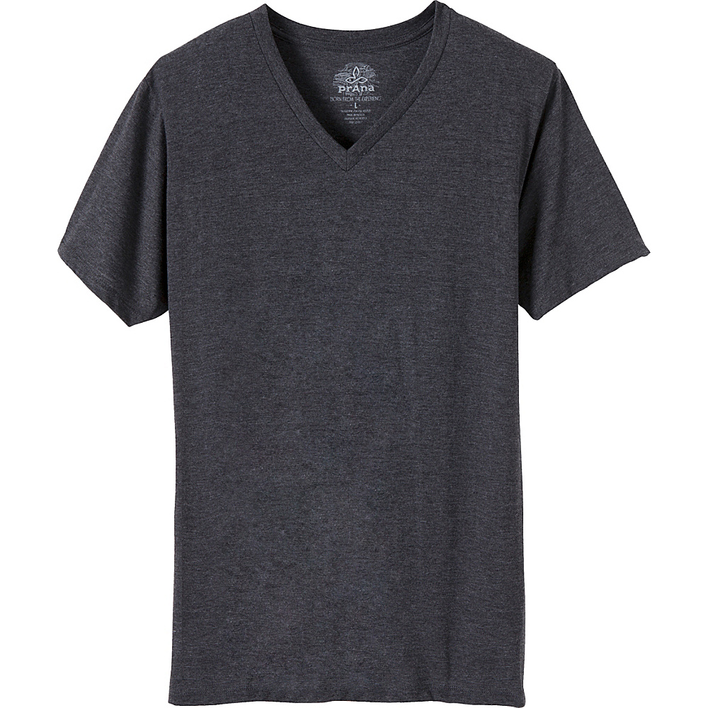 PrAna PrAna V-Neck T-Shirt L - Charcoal - PrAna Mens Apparel - Apparel & Footwear, Men's Apparel