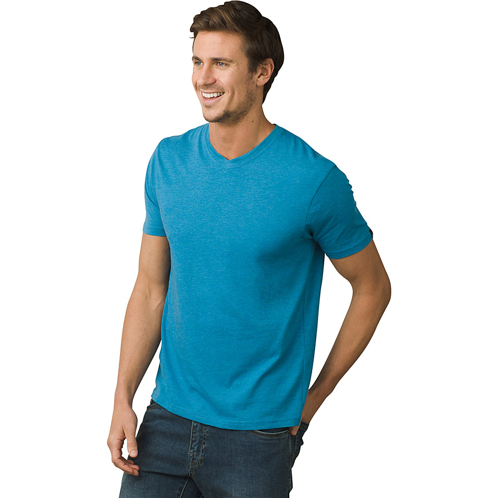 PrAna PrAna V-Neck T-Shirt M - River Rock Blue - PrAna Mens Apparel - Apparel & Footwear, Men's Apparel