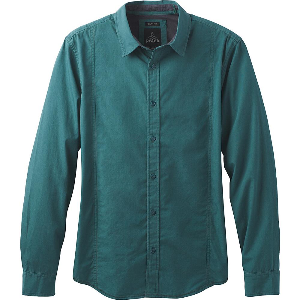 PrAna Lukas Shirt S - Deep Balsam - PrAna Mens Apparel - Apparel & Footwear, Men's Apparel
