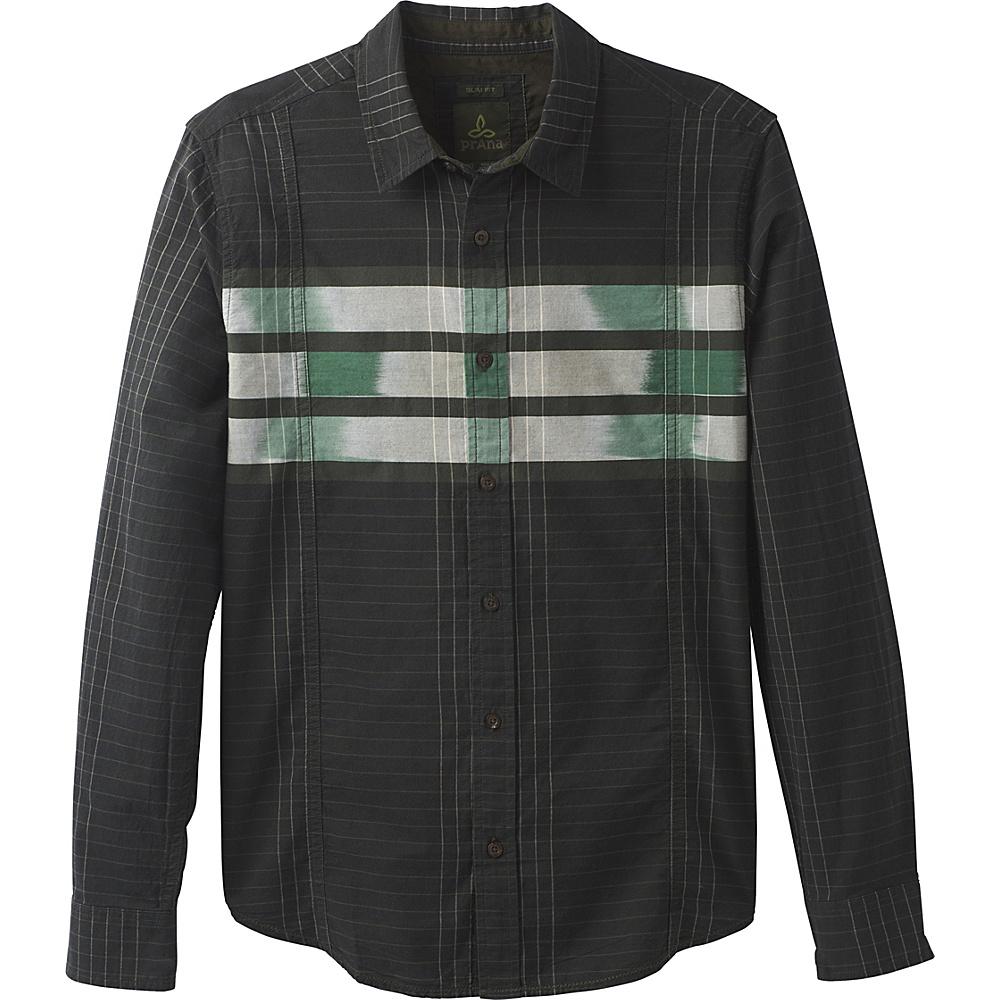 PrAna Lukas Shirt S - Dark Olive - PrAna Mens Apparel - Apparel & Footwear, Men's Apparel