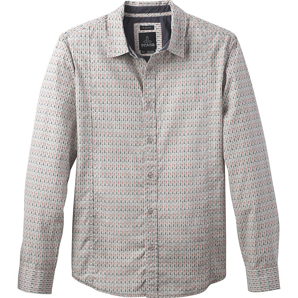 PrAna Lukas Shirt S - Gravel - PrAna Mens Apparel - Apparel & Footwear, Men's Apparel