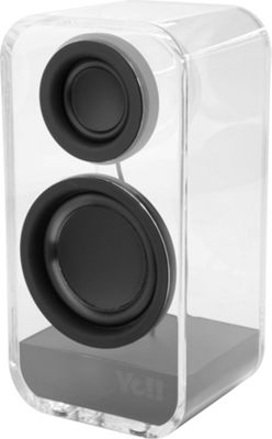 Yell by Voguestrap Clearholic Transparent Bluetooth Speaker Black - Yell by Voguestrap Headphones & Speakers