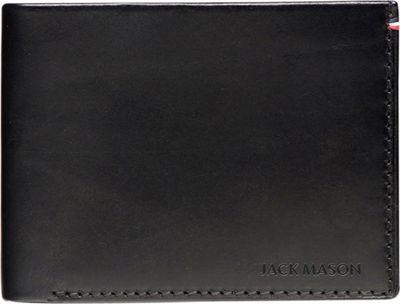 Jack Mason League Mens Leather Bifold Wallet Black - Jack Mason League Men's Wallets