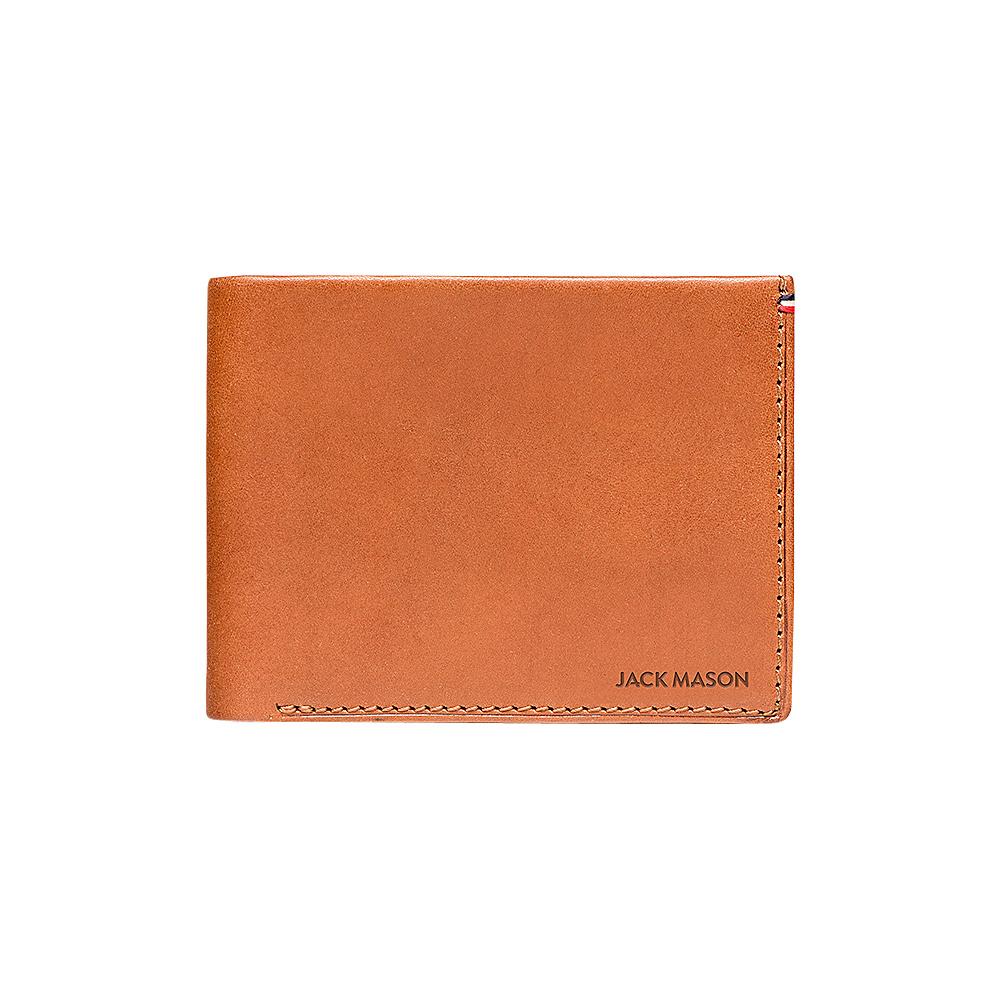 Jack Mason League Mens Leather Bifold Wallet Tan - Jack Mason League Mens Wallets - Work Bags & Briefcases, Men's Wallets