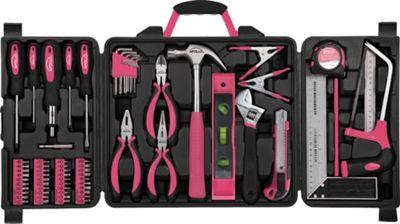 Apollo Tools 71 Piece Household Tool Kit Pink - Apollo Tools Sports Accessories