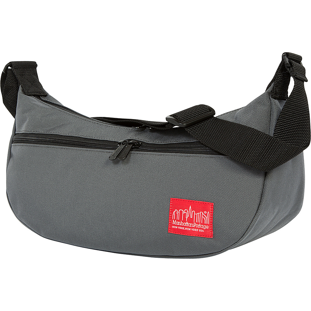 Manhattan Portage Crescent Street Shoulder Bag Gray - Manhattan Portage Designer Handbags - Handbags, Designer Handbags