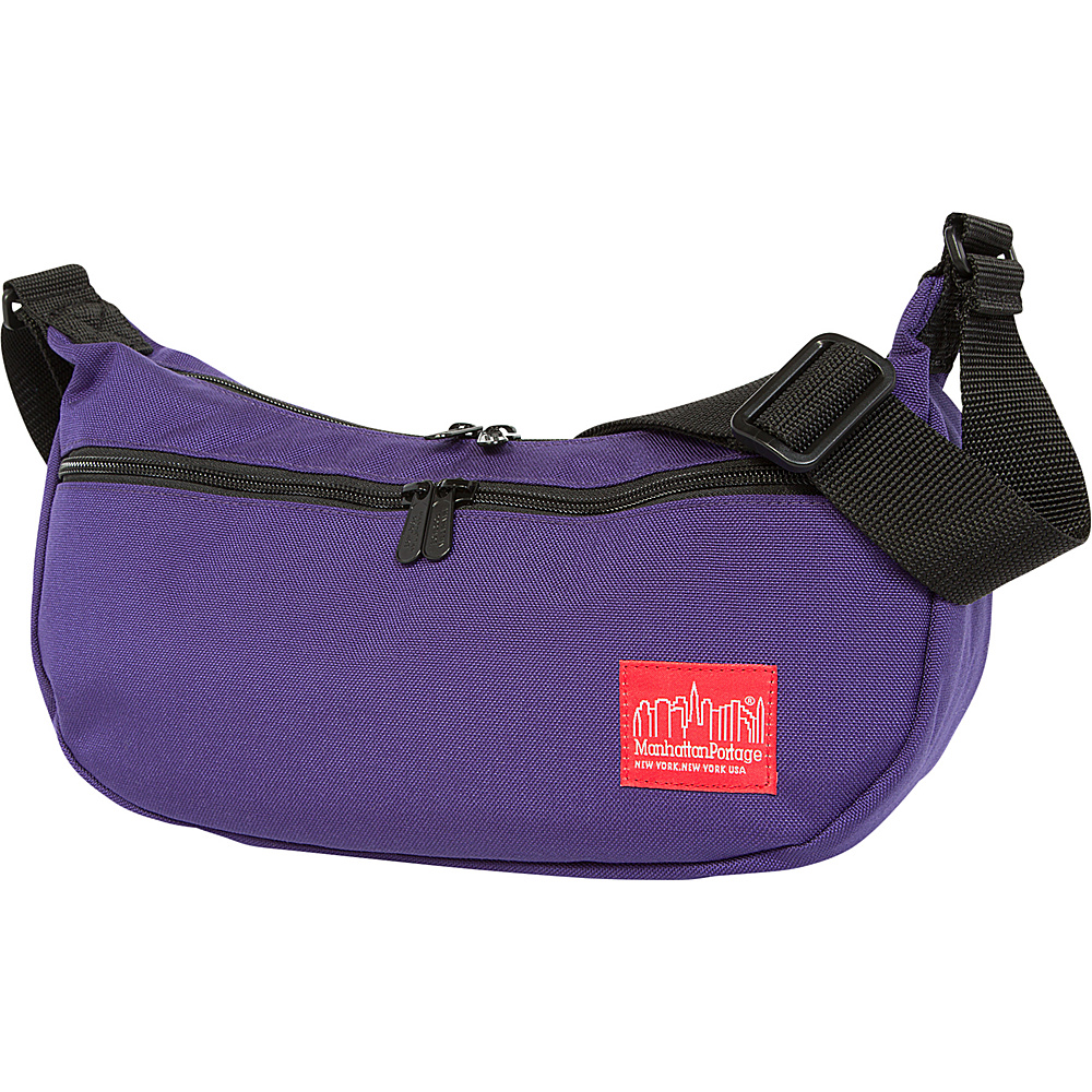 Manhattan Portage Crescent Street Shoulder Bag Purple - Manhattan Portage Designer Handbags - Handbags, Designer Handbags